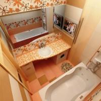 плитка для маленькой ванной комнаты дизайн фото 7