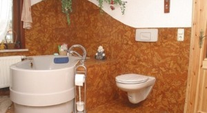 пробковое покрытие для стен фото интерьера
