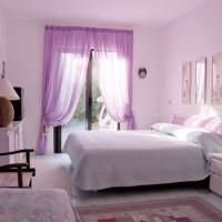 сиреневая спальня фото 10