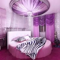 сиреневая спальня фото 12