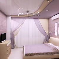 сиреневая спальня фото 21