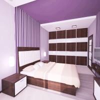 сиреневая спальня фото 24