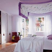 сиреневая спальня фото 25