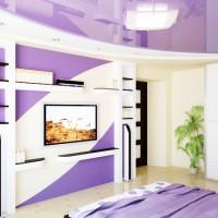 сиреневая спальня фото 28