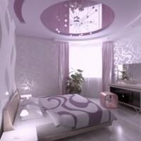 сиреневая спальня фото 29