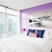 сиреневая спальня фото 30