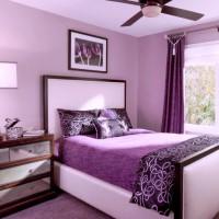 сиреневая спальня фото 31
