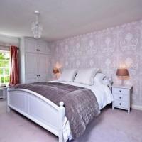 сиреневая спальня фото 34