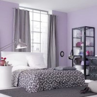 сиреневая спальня фото 35