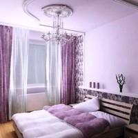 сиреневая спальня фото 36