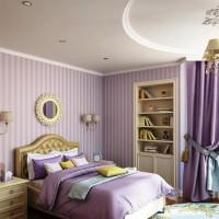 сиреневая спальня фото 40