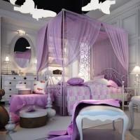 сиреневая спальня фото 45