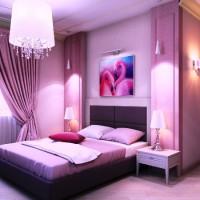 сиреневая спальня фото 46