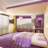 сиреневая спальня фото 47