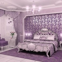 сиреневая спальня фото 5