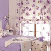 сиреневая спальня фото 50