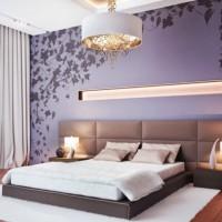 сиреневая спальня фото 51