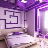 сиреневая спальня фото 7