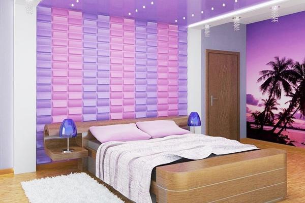 спальня в сиреневых тонах дизайн фото