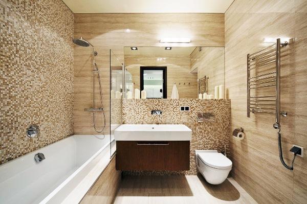 ванна в бежевом цвете фото 2
