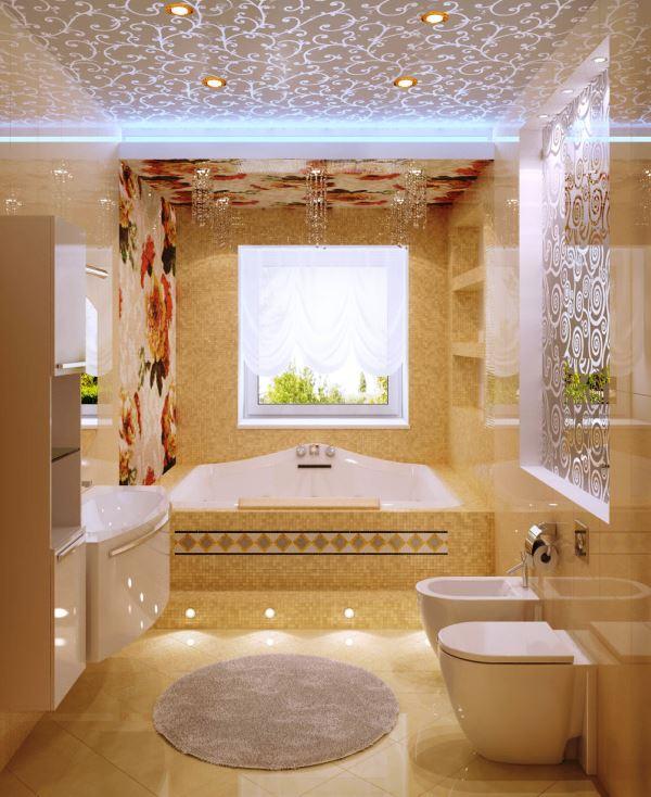 ванна в бежевом цвете фото 3