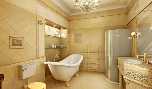 ванна в бежевом цвете фото 6