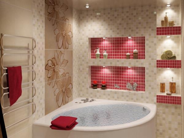 ванна в бежевом цвете фото