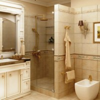 ванная в бежевых тонах фото 17