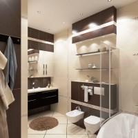 ванная в бежевых тонах фото 19