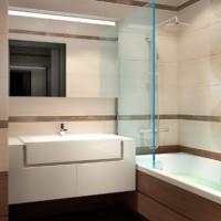 ванная в бежевых тонах фото 21