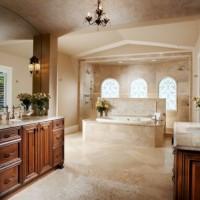ванная в бежевых тонах фото 24