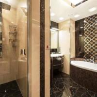 ванная в бежевых тонах фото 31