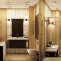 ванная в бежевых тонах фото 34