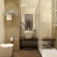 ванная в бежевых тонах фото 36