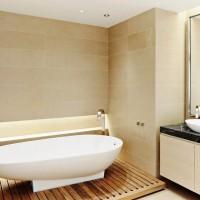 ванная в бежевых тонах фото 37