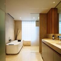 ванная в бежевых тонах фото 5