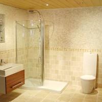 ванная в бежевых тонах фото 7