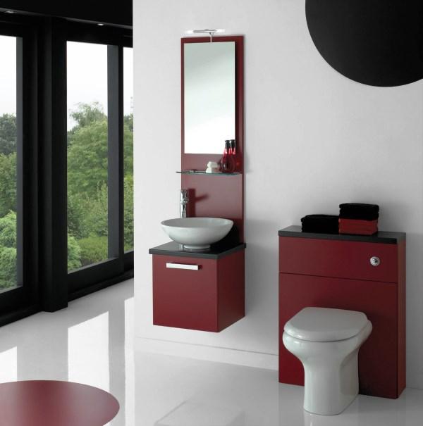 бордовая ванная фото 16