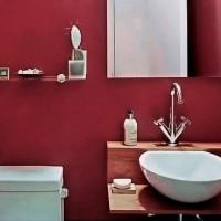 бордовая ванная фото 20