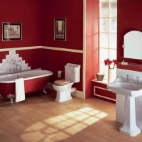 бордовая ванная фото 21