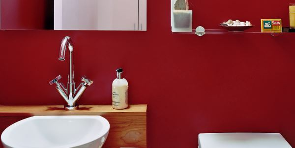 бордовая ванная фото 26