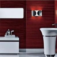 бордовая ванная фото 29
