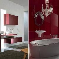 бордовая ванная фото 3