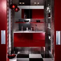 бордовая ванная фото 35