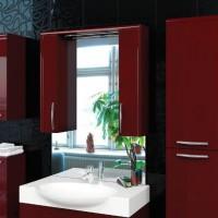 бордовая ванная фото 40