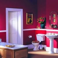 бордовая ванная фото 43