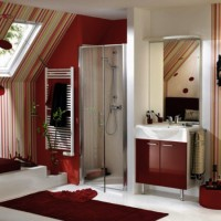 бордовая ванная фото 45