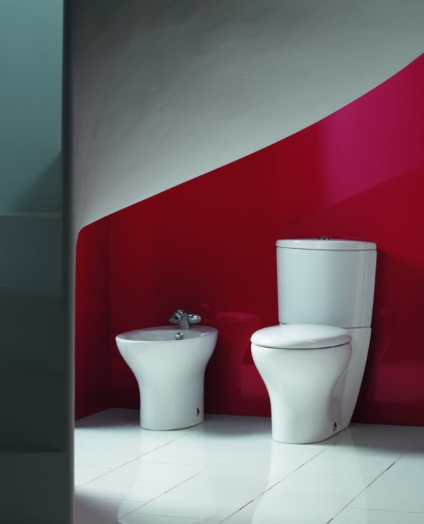 бордовая ванная фото 8