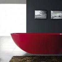 бордовая ванная фото 9