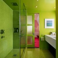 зеленая ванная комната фото 10